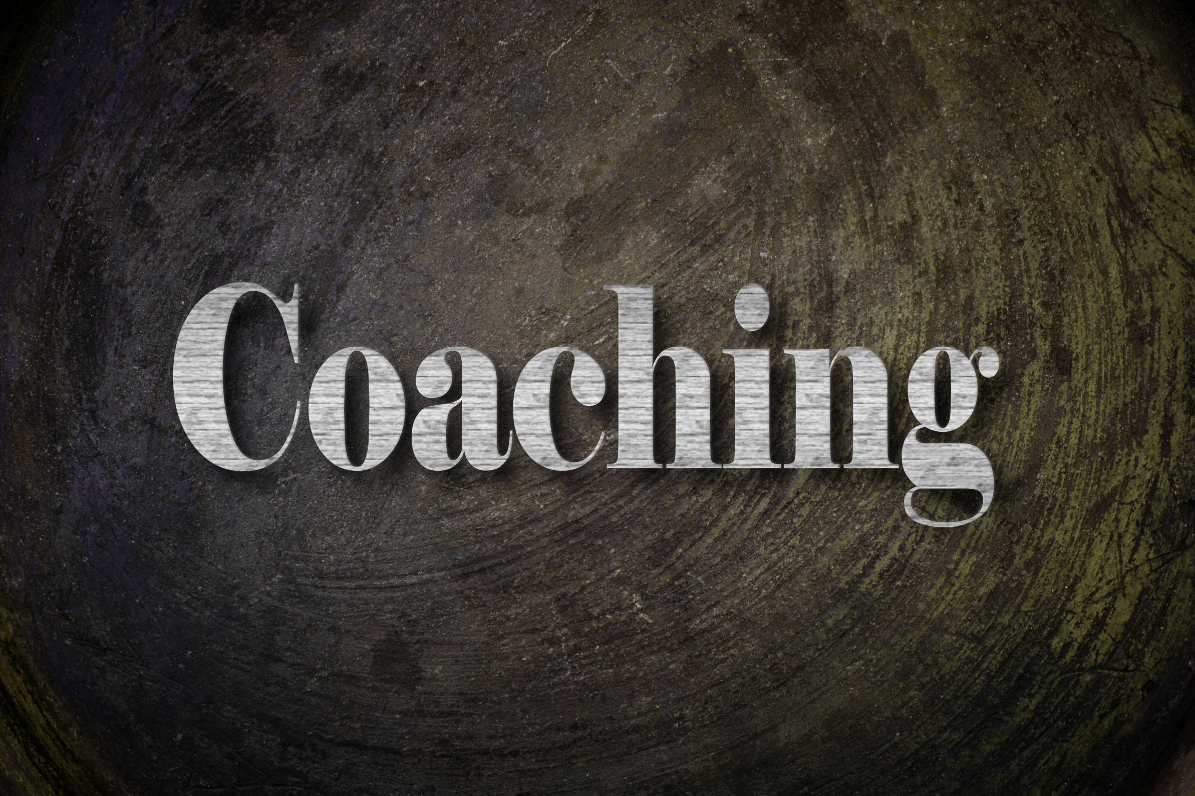 Coaching Text on Background